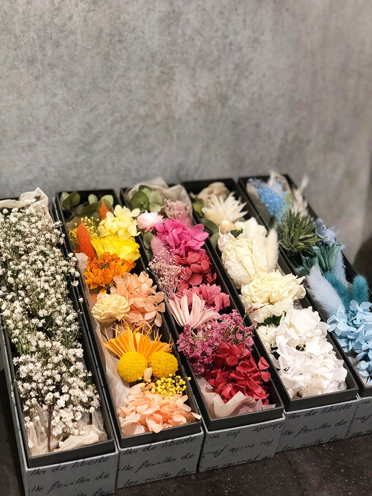 【大阪店オリジナル商品】ドライフラワーとプリザーブドフラワーの髪飾り|選べる5色