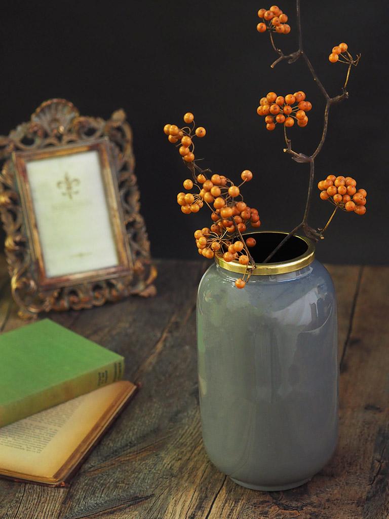 【WAIBEL collection】フラワーベース -花瓶-|ダークグレー|数量限定
