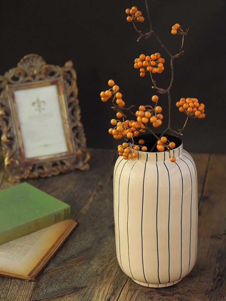 【WAIBEL collection】フラワーベース -花瓶-|ロゼ×ストライプ|数量限定