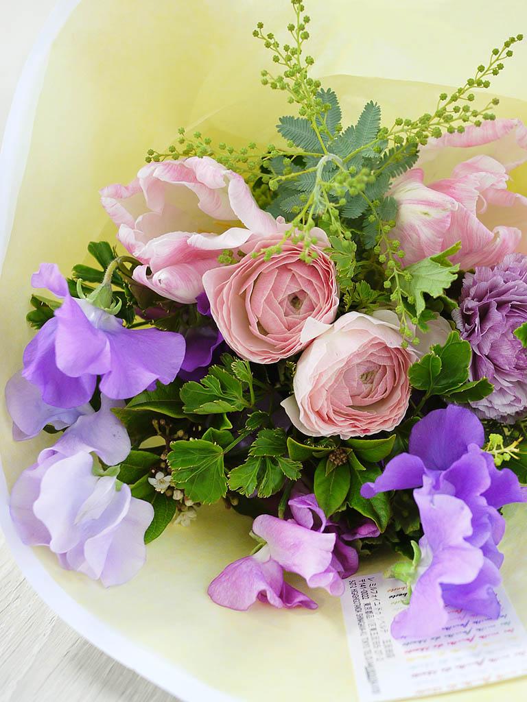 【1月・2月限定ブーケ】Bouquet du printemps -春のブーケ- Sサイズ