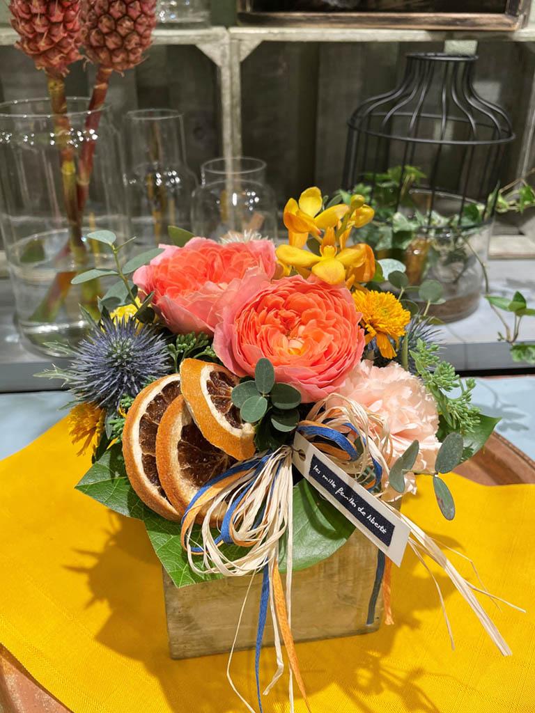 【グランスタ丸の内店オリジナル商品】orange -オランジュ-|アレンジメント|数量限定