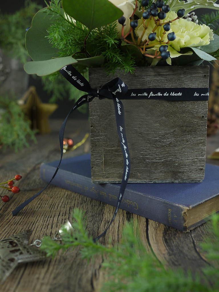 【クリスマス限定商品】Noel Blanc -ノエルブラン- 白いクリスマス|フラワーアレンジメント