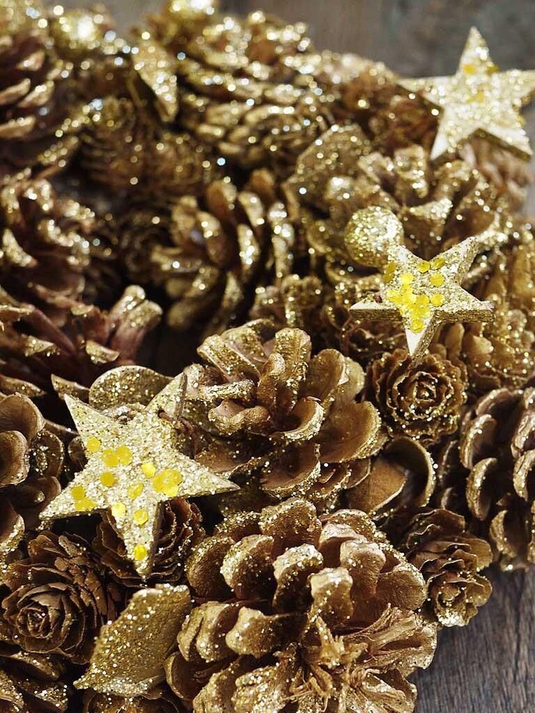 【クリスマス限定商品】クリスマスリース|ゴールド