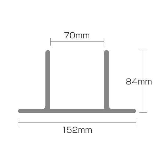 70角支柱用 アルミ製 固定金物セット つむ木70 ダークブラウン (TS-70) (約 0.5kg) つむぎ