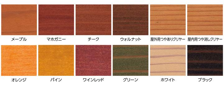 サンデーペイント 木部用自然塗料 エコウッドカラーステイン 14L