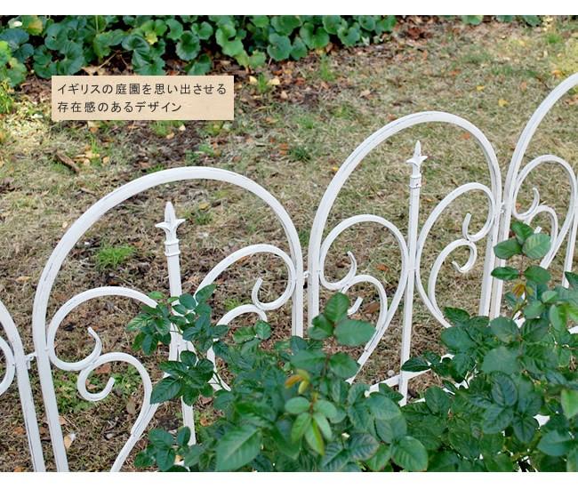 アイアンフェンス フィニアル ゲートセット ホワイト イージーフェンス トレリス 白 IPN-7031G-WHT  ※北海道+1100円