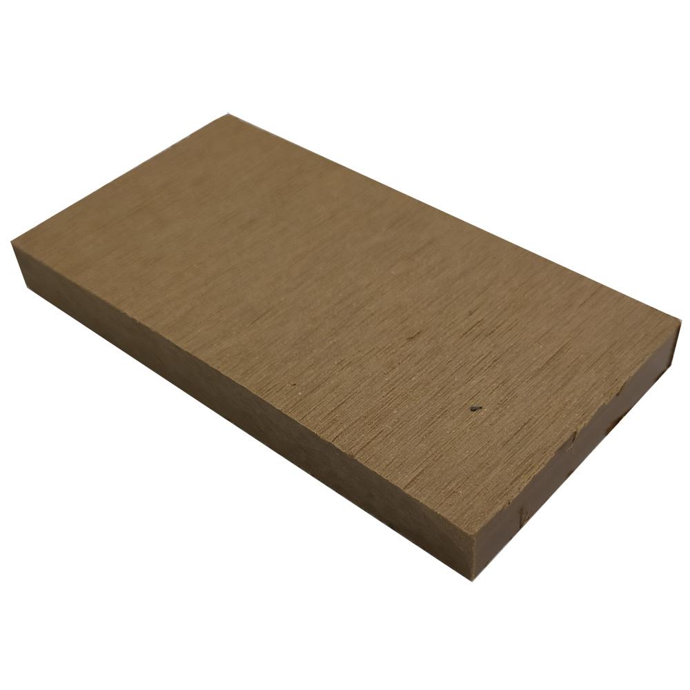 オーロラデッキ幕板/フェンス材(TEAK)・デッキサンプル10×96×50 【お一人様一点限り】