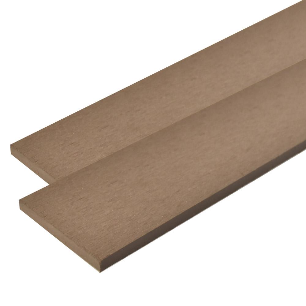 ※人工木 オーロラデッキ・フェンス材 10×96×2000mm(1.9kg) 無垢/ダークブラウン