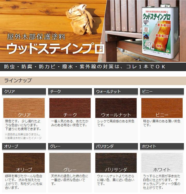 木材 保護塗料 ウッドステインプロ 16L オリーブ 【ウッドデッキ キット 木材 木部 防腐に】