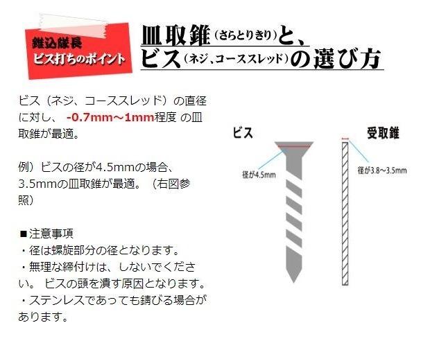 硬質木材用ビス 錐込隊長 4.5(径)×51(長さ)mm (300本入) ブロンズ色 [SUS410]