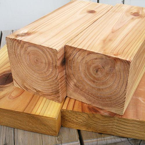 国産杉 エコアコールウッド・90×90×4000mm (約13kg)