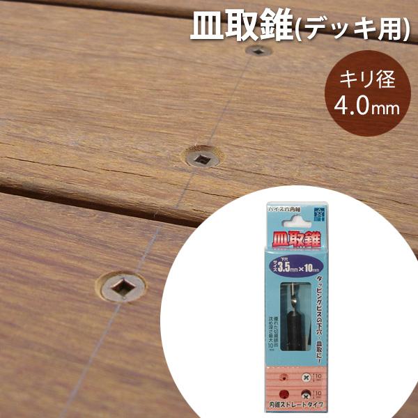 皿取錐(デッキ用)/内錐2本、外錐1本セット・4.0×118mm(働き70〜90mm)【送料別】(1kg)