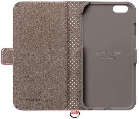 iPhone7ケース 4.7インチ対応 Premium Style フリップカバー パステルリボン ペールピンク PG-16MFP17PK 【新品】