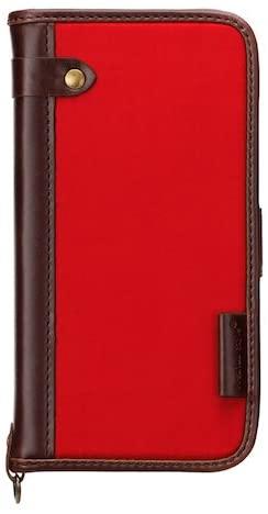 iPhone7ケース 4.7インチ対応 Premium Style フリップカバー ナイロン レッドPG-16MFP10RD 【新品】