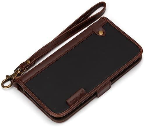 iPhone7ケース 4.7インチ対応 Premium Style フリップカバー ナイロン ブラック PG-16MFP11BK 【新品】