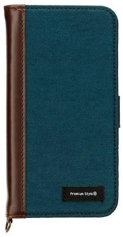 iPhone7ケース 4.7インチ対応 Premium Style PGA フリップカバー キャンバス グリニッシュブルー PG-16MFP13BL 【新品】