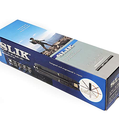 カーボンパイプ三脚 22mm径 5段 SLIK スリック エアリーカーボン 645 LED AIRC645LED 【未使用品】