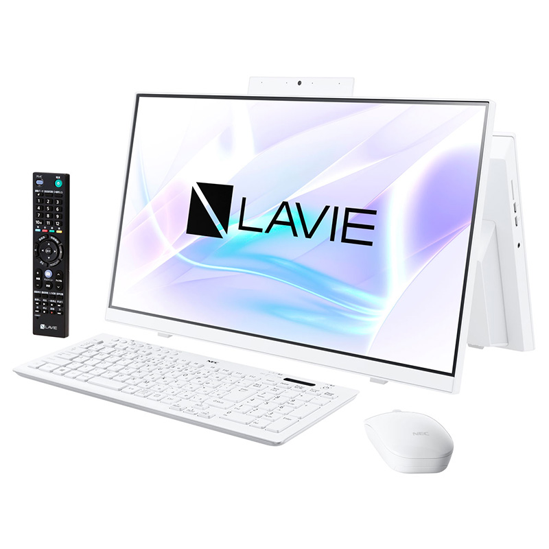 NEC デスクトップパソコン PC-HA370RAW LAVIE Home All-in-one ファインホワイト