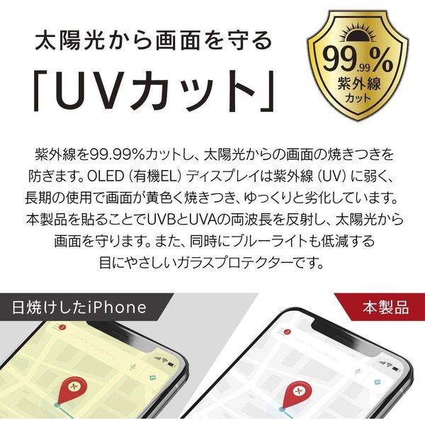 UVカットガラス 2019 iPhone11 Pro Max/XS Max 6.5インチ ゴリラガラス simplism トリニティ TR-IP19L-GL-UVGOCC