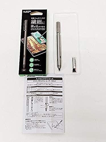 電池式アクティブタッチペン スタイラスペン エレコム  iPhone X/XR/XS/XS Max 対応 ブラック P-TPACST01BK 【ほぼ未使用品】