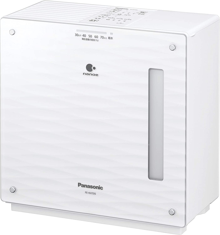 加湿機 気化式 ナノイー搭載 Panasonic パナソニック  14畳 ミスティホワイト FE-KXT05-W 【新品】