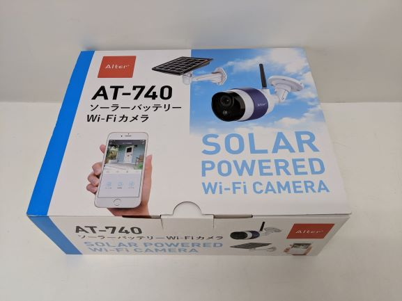 ソーラーバッテリー WiFi カメラ Alter オルタプラス AT-740 【未使用品】