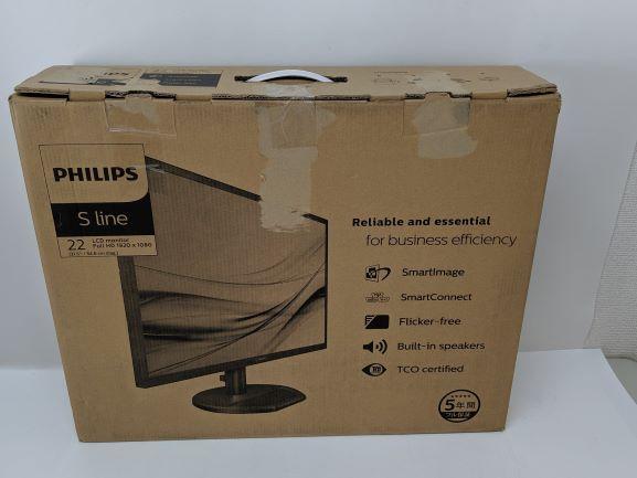 液晶ディスプレイ 21.5型  日本フィリップス PHILIPS スピーカー付 ホワイト  221S8LDAW/11  【未使用品】