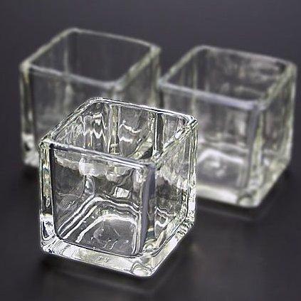 キャンドル用グラス キューブ