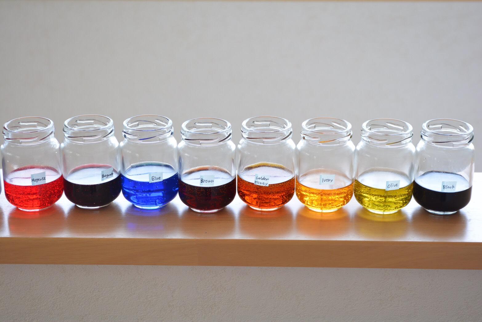 韓国染料  16色セット 箱付き プロフェッショナル版