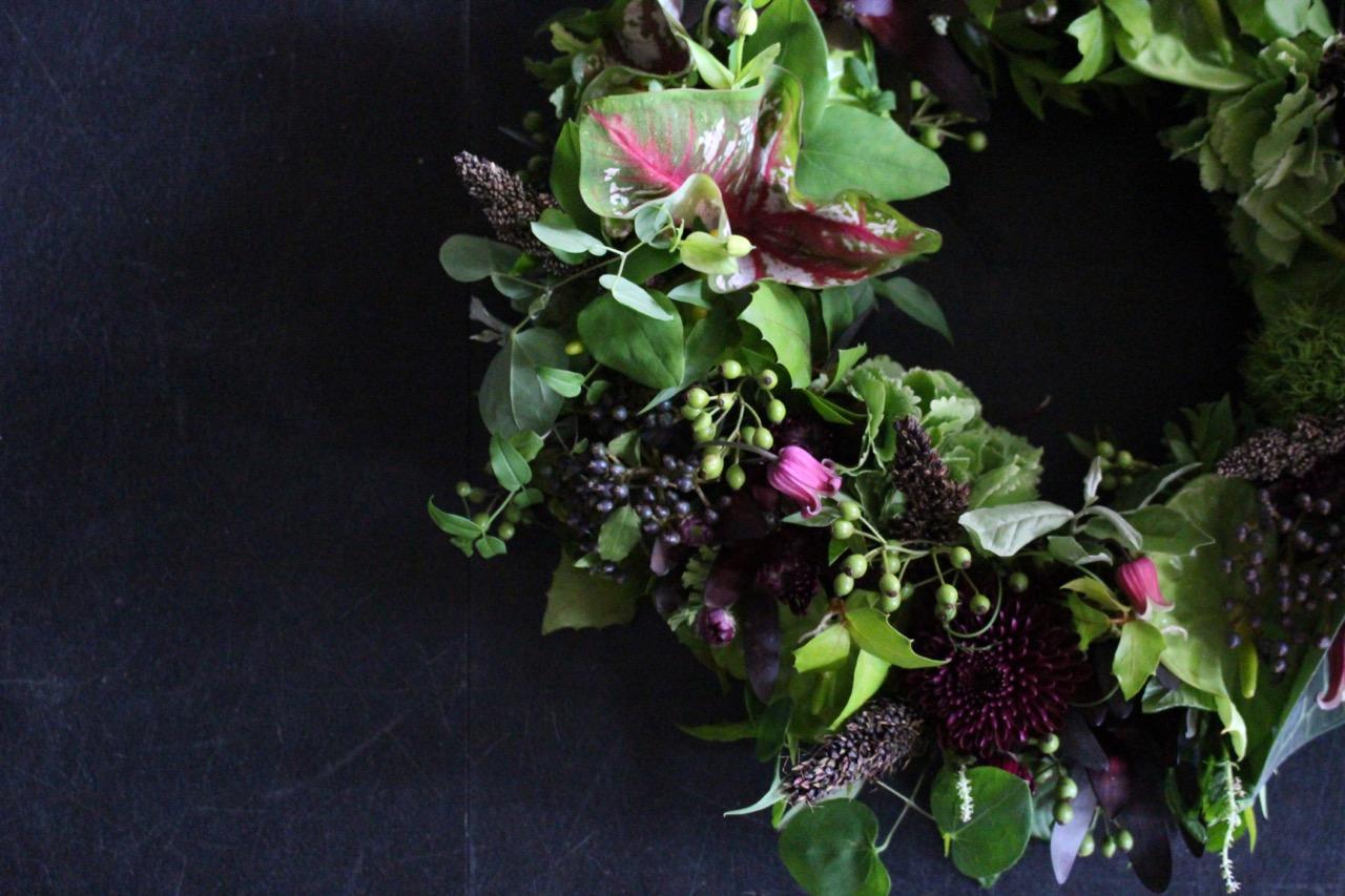 天鵞絨veludo 7月の花 July flowers [Flower wreath 38cm] #002