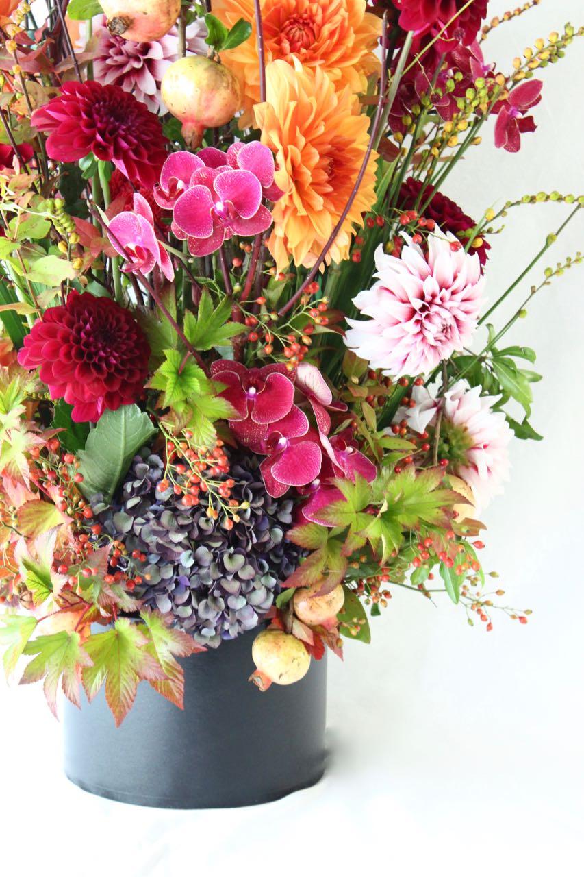 紅 kurenai 華々しく鮮やかな暖色系の花々 warm-colored flowers [Arrangement Special]  #002