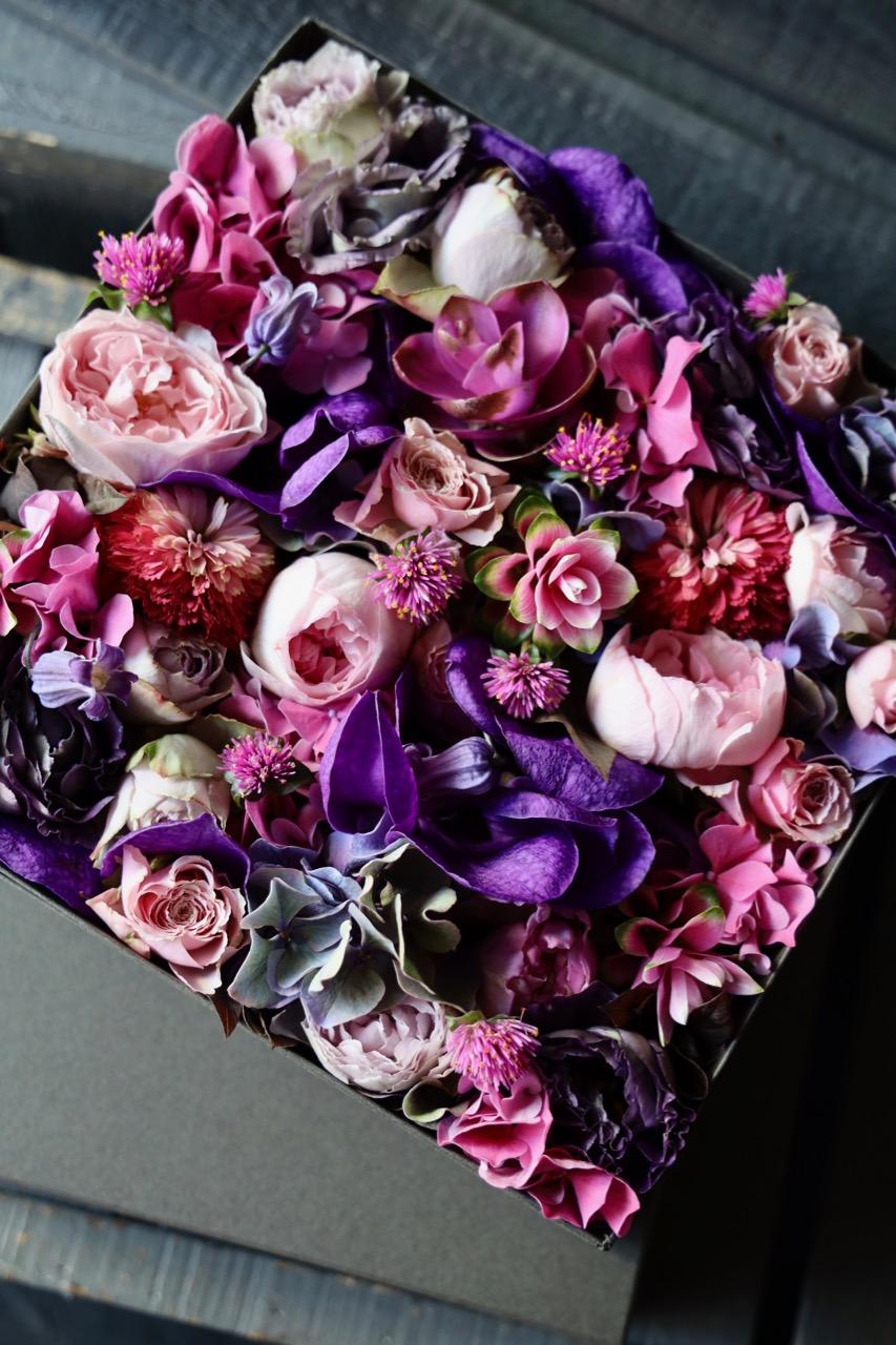 本色 honshiki 定番人気「極彩美」 Rose Gift [Box Flower 27cm] #002