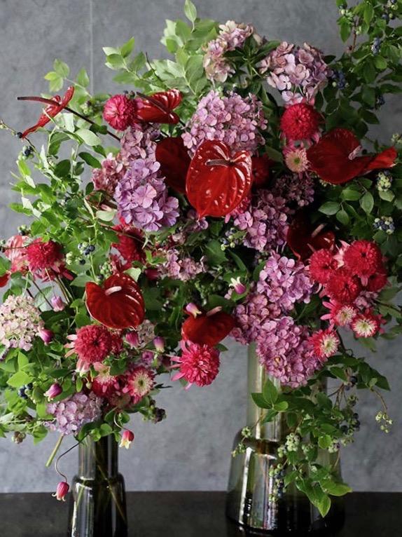 緑紅 ryokko 季節の枝や花の自然な姿をそのままに high-quality glass vase [thrown in] #002