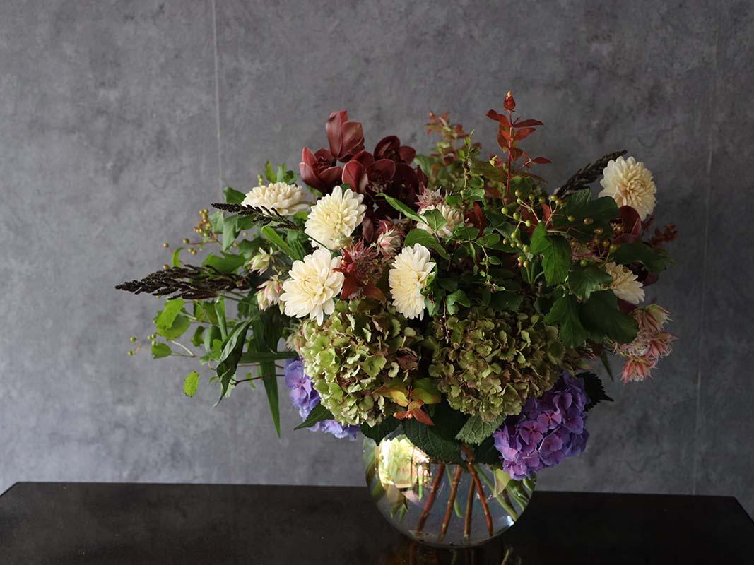 洸喜 koki 特別なギフトやエントランス装花に喜ばれる[色で選ぶ投げ入れ] #002