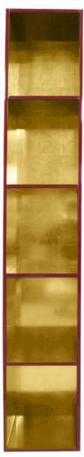 【受注生産品】朱塗り 納骨壇 扉なしタイプ1列5基 木製仏具 国内自社工場制作品(商品番号11217s)