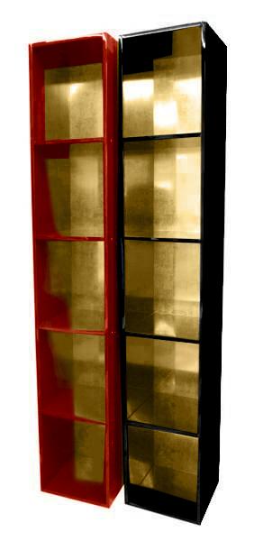 【受注生産品】黒塗り 納骨壇 扉なしタイプ1列5基 木製仏具 国内自社工場制作品(商品番号11217k)