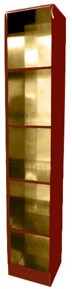 【受注生産品】潤み塗り 納骨壇 扉なしタイプ1列5基 木製仏具 国内自社工場制作品(商品番号11217u)