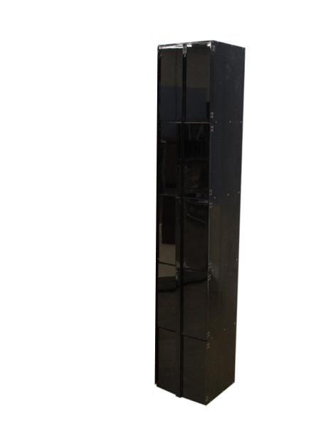 【受注生産品】黒塗り 納骨壇 扉付きタイプ1列5基 木製仏具 国内自社工場制作品(商品番号11218k)