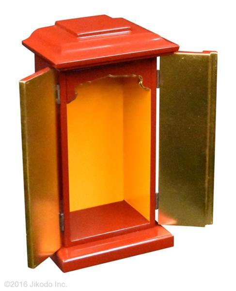 【祈りの空間】黒塗り 角厨子11号と幅30センチの一間仏像台セット 国内自社工場制作(商品番号10192k)(受注生産品)
