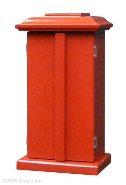 【祈りの空間】朱塗り 角厨子11号と幅30センチの一間仏像台セット 国内自社工場制作(商品番号10192s)(受注生産品)