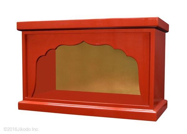 【受注生産品、限定サイズの特価品】箱型 幅広厨子 幅48センチNO.1 色は3色(黒、朱、潤み) 国内自社工場で製作品 (商品番号mu066)(発送まで約30日)