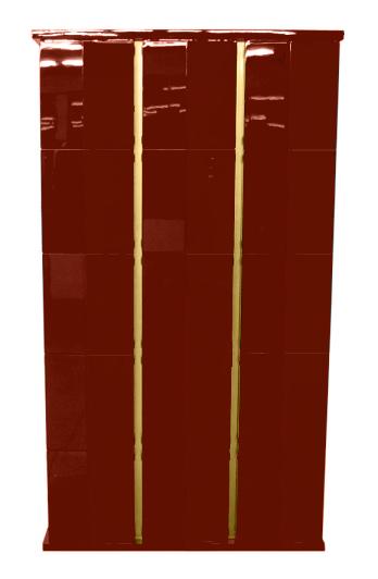 【受注生産品】黒塗り 納骨壇 扉付きタイプ3列15基 木製仏具 国内自社工場制作品(商品番号11220k)