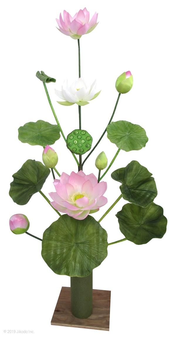 【寺院仏具】 常花 シルク 15本立て 水上高約75センチ 一対 ※花立は別売りです (受注生産品)