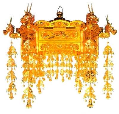 【寺院仏具】二重欄間付六角人天蓋 (受注生産品)
