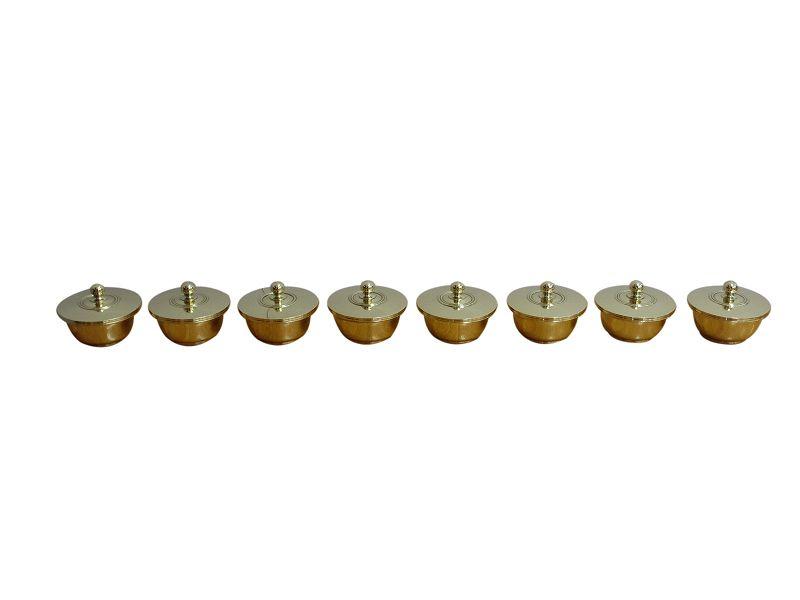 【寺院仏具】八器(中型)蓋付き