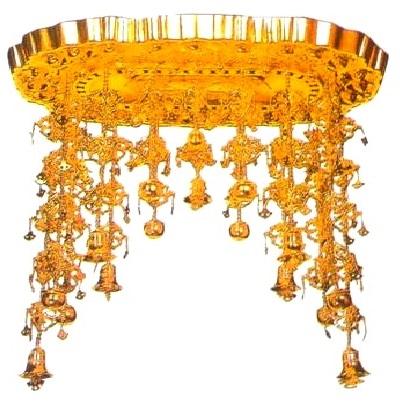 【寺院仏具】 傘平径60センチ 小判型仏天蓋 (受注生産品)