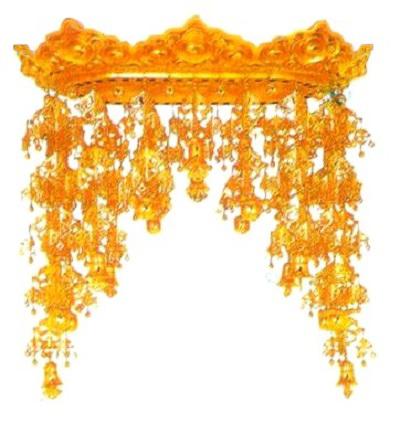 【寺院仏具】 傘平径60センチ 雲彫型仏天蓋 (受注生産品)