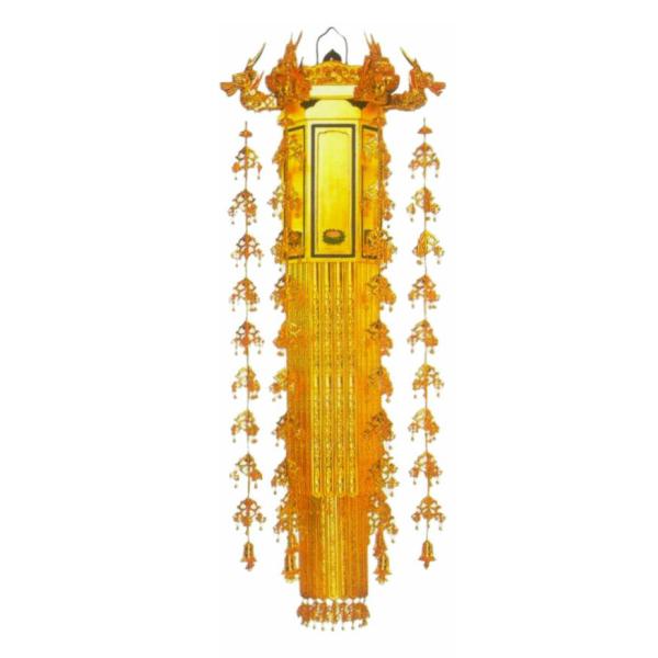 【寺院仏具】 普通型 六角幢幡4尺〜各サイズ 一対 (受注生産品)