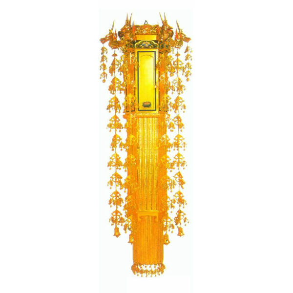 【寺院仏具】蓮付き 六角幢幡4尺〜各サイズ 一対 (受注生産品)
