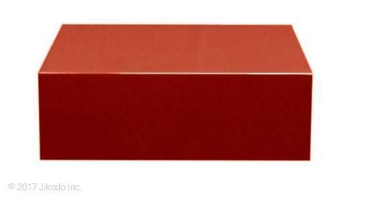 【寺院仏具】朱塗り 箱型仏像台 幅30�x高さ10�x奥行30� 安心の国産品 サイズ調整可能です 自社工場にて製作 木製高級寺院仏具通販(受注生産品)(商品番号11138s)